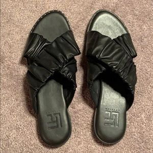 NWT LF/ LIFE Brazilian leather studded sandals